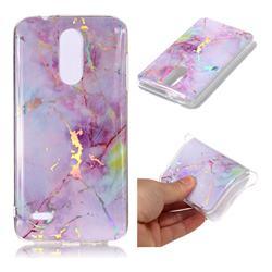 Pink Purple Marble Pattern Bright Color Laser Soft TPU Case for LG K8 (2018) / LG K9