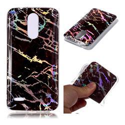 Black Brown Marble Pattern Bright Color Laser Soft TPU Case for LG K8 (2018) / LG K9