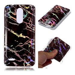Black Brown Marble Pattern Bright Color Laser Soft TPU Case for LG K8 (2018)