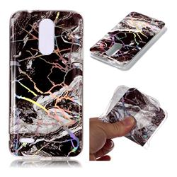 White Black Marble Pattern Bright Color Laser Soft TPU Case for LG K8 (2018)