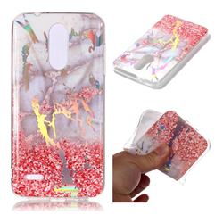 Powder Sandstone Marble Pattern Bright Color Laser Soft TPU Case for LG K8 (2018)