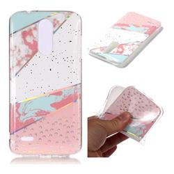 Matching Color Marble Pattern Bright Color Laser Soft TPU Case for LG K8 (2018)