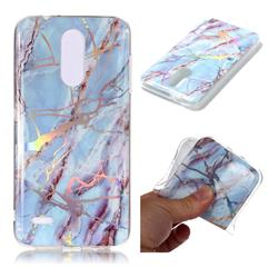 Light Blue Marble Pattern Bright Color Laser Soft TPU Case for LG K8 (2018) / LG K9
