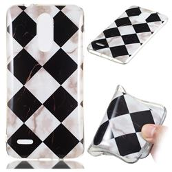 Black and White Matching Soft TPU Marble Pattern Phone Case for LG K8 (2018)