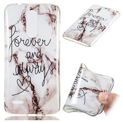Forever Soft TPU Marble Pattern Phone Case for LG K8 (2018)
