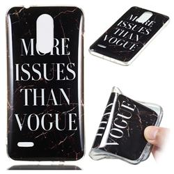 Stylish Black Soft TPU Marble Pattern Phone Case for LG K8 (2018)
