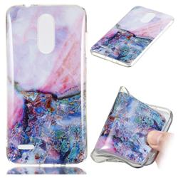 Purple Amber Soft TPU Marble Pattern Phone Case for LG K8 (2018)