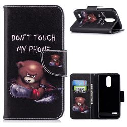 Chainsaw Bear Leather Wallet Case for LG K8 (2018)
