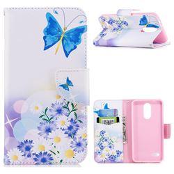 Butterflies Flowers Leather Wallet Case for LG K8 (2018) / LG K9