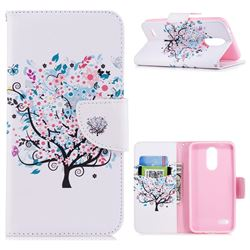 Colorful Tree Leather Wallet Case for LG K8 (2018)