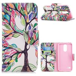 The Tree of Life Leather Wallet Case for LG K8 (2018)