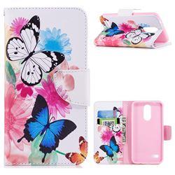 Vivid Flying Butterflies Leather Wallet Case for LG K8 (2018) / LG K9