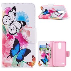 Vivid Flying Butterflies Leather Wallet Case for LG K8 (2018)