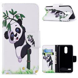Bamboo Panda Leather Wallet Case for LG K8 (2018) / LG K9
