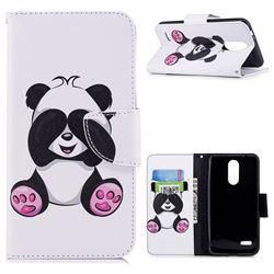 Lovely Panda Leather Wallet Case for LG K8 (2018) / LG K9