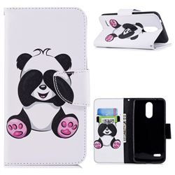 Lovely Panda Leather Wallet Case for LG K8 (2018)