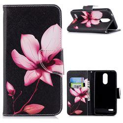 Lotus Flower Leather Wallet Case for LG K8 (2018) / LG K9