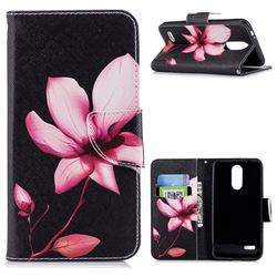 Lotus Flower Leather Wallet Case for LG K8 (2018)