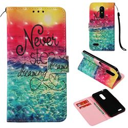 Colorful Dream Catcher 3D Painted Leather Wallet Case for LG K8 (2018) / LG K9