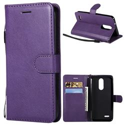 Retro Greek Classic Smooth PU Leather Wallet Phone Case for LG K8 (2018) / LG K9 - Purple