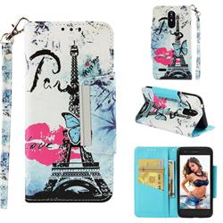 Lip Tower Big Metal Buckle PU Leather Wallet Phone Case for LG K8 (2018)