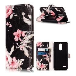 Azalea Flower PU Leather Wallet Case for LG K8 (2018)