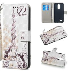 Tower Couple 3D Painted Leather Wallet Phone Case for LG K8 (2018)