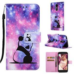 Panda Baby Matte Leather Wallet Phone Case for LG K8 (2018)