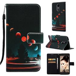 Wandering Earth Matte Leather Wallet Phone Case for LG K8 (2018)