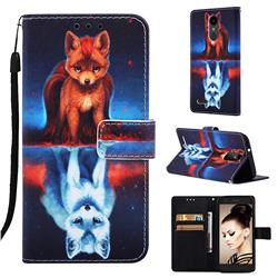 Water Fox Matte Leather Wallet Phone Case for LG K8 (2018)