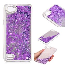 Glitter Sand Mirror Quicksand Dynamic Liquid Star TPU Case for LG Q6 (LG G6 Mini) - Purple