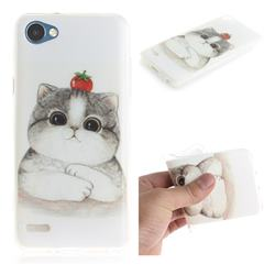 Cute Tomato Cat IMD Soft TPU Cell Phone Back Cover for LG Q6 (LG G6 Mini)