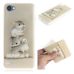 Three Squirrels IMD Soft TPU Cell Phone Back Cover for LG Q6 (LG G6 Mini)