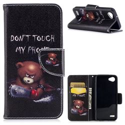 Chainsaw Bear Leather Wallet Case for LG Q6 (LG G6 Mini)