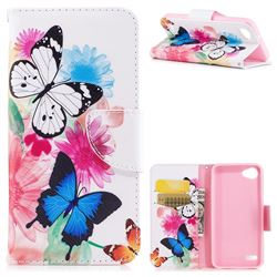 Vivid Flying Butterflies Leather Wallet Case for LG Q6 (LG G6 Mini)