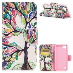 The Tree of Life Leather Wallet Case for LG Q6 (LG G6 Mini)
