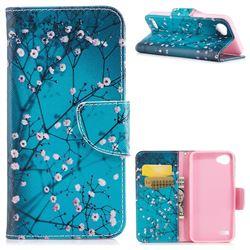 Blue Plum Leather Wallet Case for LG Q6 (LG G6 Mini)