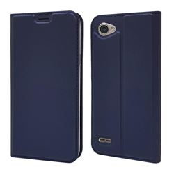 Ultra Slim Card Magnetic Automatic Suction Leather Wallet Case for LG Q6 (LG G6 Mini) - Royal Blue