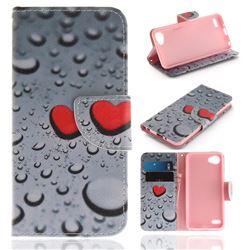 Heart Raindrop PU Leather Wallet Case for LG Q6 (LG G6 Mini)
