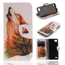 Color Wolf PU Leather Wallet Case for LG Q6 (LG G6 Mini)