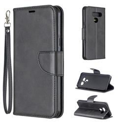 Classic Sheepskin PU Leather Phone Wallet Case for LG Q60 - Black