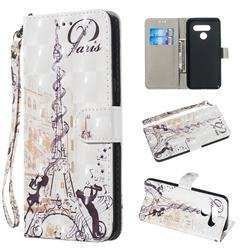 Tower Couple 3D Painted Leather Wallet Phone Case for LG Q60