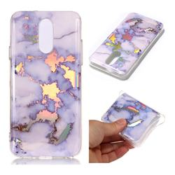 Blue Marble Pattern Bright Color Laser Soft TPU Case for LG Q7 / Q7+ / Q7 Alpha / Q7α
