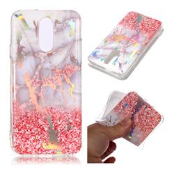 Powder Sandstone Marble Pattern Bright Color Laser Soft TPU Case for LG Q7 / Q7+ / Q7 Alpha / Q7α