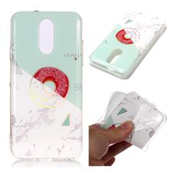 Donuts Marble Pattern Bright Color Laser Soft TPU Case for LG Q7 / Q7+ / Q7 Alpha / Q7α