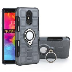 Ice Cube Shockproof PC + Silicon Invisible Ring Holder Phone