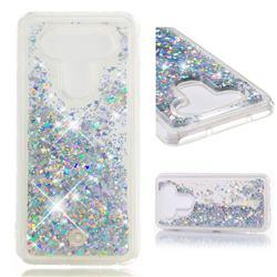 Dynamic Liquid Glitter Quicksand Sequins TPU Phone Case for LG Q8(2017, 5.2 inch) - Silver