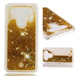 Dynamic Liquid Glitter Quicksand Sequins TPU Phone Case for LG Q8(2017, 5.2 inch) - Golden