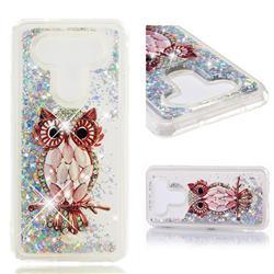 Seashell Owl Dynamic Liquid Glitter Quicksand Soft TPU Case for LG Q8(2017, 5.2 inch)