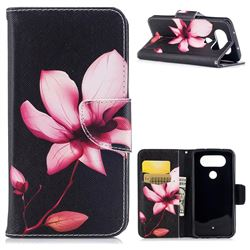 Lotus Flower Leather Wallet Case for LG Q8